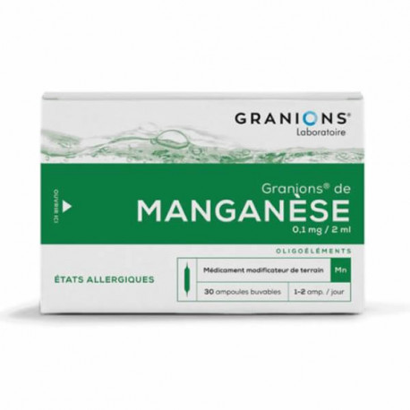 Granions Manganèse 30 ampoules 2ml