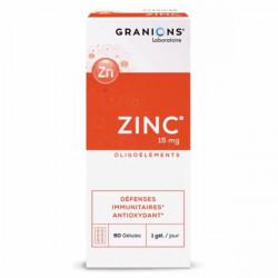 Granions zinc 15mg 60 gélules 15g