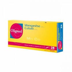 Oligosol manganèse cobalt 28 ampoules 56ml