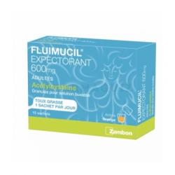 FLUIMUCIL ACETYLCYSTEINE 600 mg glé p sol buv adultes