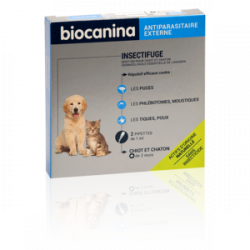 Biocanina Biocanina Insectifuge Naturel Spot-On Chiots et Chatons 2 pipettes 1ml