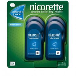 Nicorette 2mg 80 comprimés à sucer menthe intense