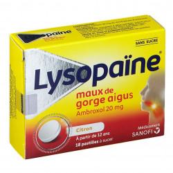 Lysopaïne ambroxol pastilles sans sucres citron
