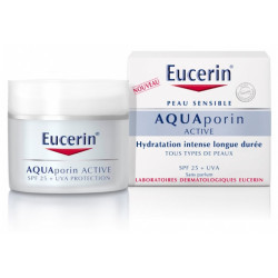 Eucerin Aquaporin Active Soin Hydratant Tous Types de Peaux SPF 25 + UVA 50 ml