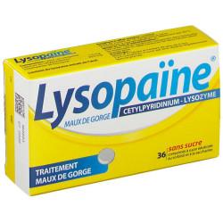 Lysopaine sans sucre cps à sucer bte 36