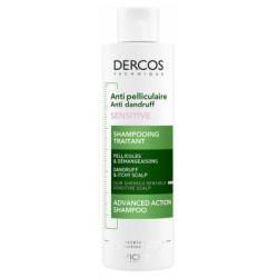 Vichy Dercos Shampoing Traitant Antipelliculaire Sensitive 200 ml