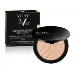 Vichy Dermablend Covermatte Fond de Teint Poudre Compacte 9,5 g - Teinte : 25 : Nude