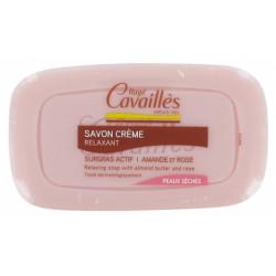 Rogé Cavaillès Savon Crème Relaxant Amande et Rose 115 g