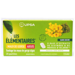 Pastilles Les élémentaires UPSA Maux de gorge aigus x20