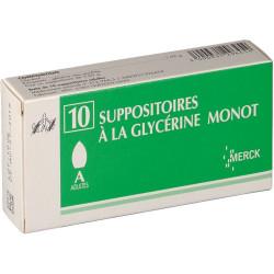 Suppositoire Glycérine Adulte Monot boite 10