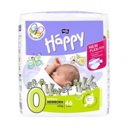 HAPPY Couches Bébé T0 moins de 2kg paquet de 46