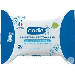 DODIE Lingettes Nettoyantes Dermo-Apaisantes 3en1 x20