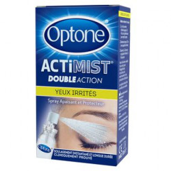 Optone ActiMist 2en1 spray oculaire yeux irrités10ml