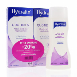 Hydralin quotidien gel lavant intime 200ml x2