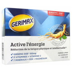 Gerimax Active l'Énergie 90 Comprimés