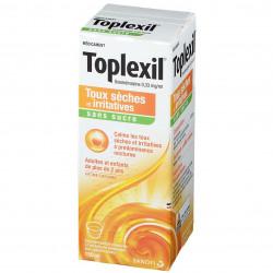 Toplexil sans sucre solution buvable 150 ml