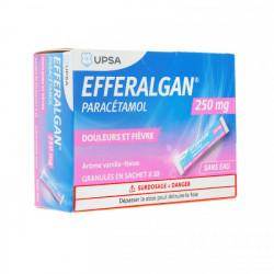 Efferalgan 250 Mg Vanille-Fraise Granulés 10 Sachets