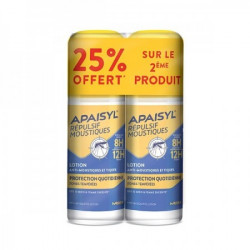 Apaisyl répulsif moustiques lotion protection quotidienne 2x90ml