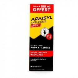 Apaisyl Anti poux Xpert lotion traitante poux et lentes 300ml + peigne