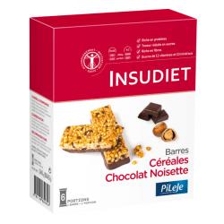 Insudiet Barre Céréales Chocolat Noisette