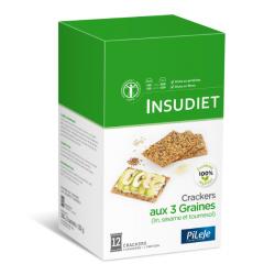 Insudiet Crackers aux 3 Graines (lin, sésame et tournesol)