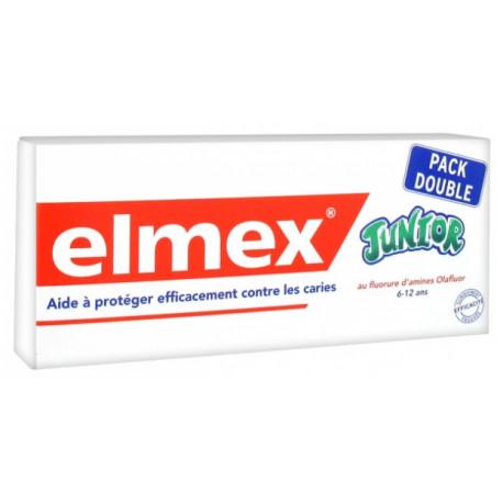 Elmex Dentifrice Junior Lot de 2 x 75 ml