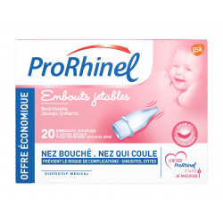 ProRhinel Embouts jetables souples x 20