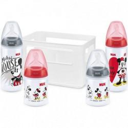 Nuk Cassier 4 Biberons First Choice Mickey 0 à 6 mois