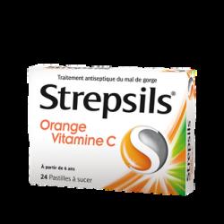Strepsil Orange Vitamine C 24 pastilles à sucer