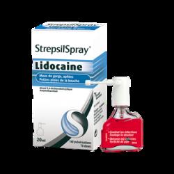 Strepsilspray lidocaine collutoire 20 ml