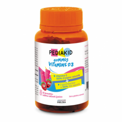 Pediakid Gommes Vitamine D3 60 oursons