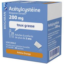 ACETYLCYSTEINE BGC 200 SACH 20