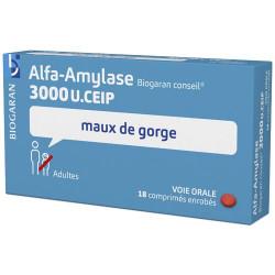 Alfa-amylase 3000U Biogaran 18 comprimés
