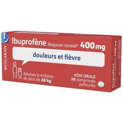 Ibuprofene 400mg biogaran 10 comprimés pelliculés