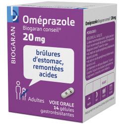 Oméprazole 20 mg biogaran 14 gélules