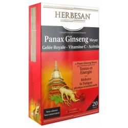 Herbesan Panax Ginseng Meyer Gelée Royale Vitamine C Acérola 20 Ampoules