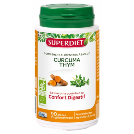 Super Diet Curcuma Thym Bio 90 Gélules