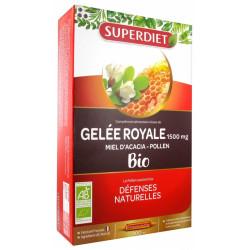 Super Diet Gelée Royale Miel d'Acacia Pollen Bio 20 Ampoules