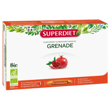 Super Diet Grenade Bio Pur Jus 20 ampoules