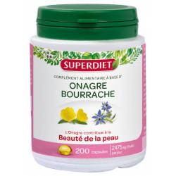 Super Diet Huiles d'Onagre et de Bourrache 200 capsules