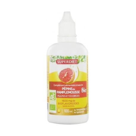 Super Diet Pépins de Pamplemousse + Pulpe et Écorce 1600 mg Bio 100 ml
