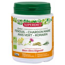 Super Diet Quatuor Fenouil Digestion Bio 150 Gélules