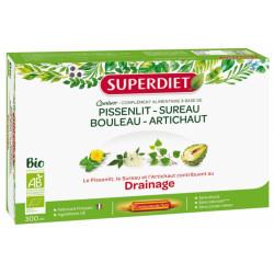 Super Diet Quatuor Pissenlit Drainage Bio 20 Ampoules