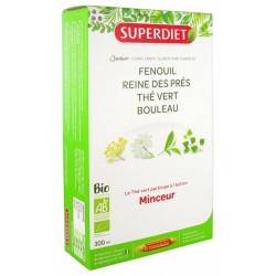 Super Diet Quatuor Thé Vert Minceur Bio 20 Ampoules