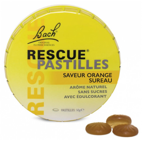 Rescue Bach Pastilles Saveur Orange Sureau 50 g