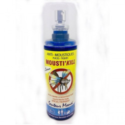 Mousti'Kill Spray Anti Moustiques Senteur Monoï 100ml