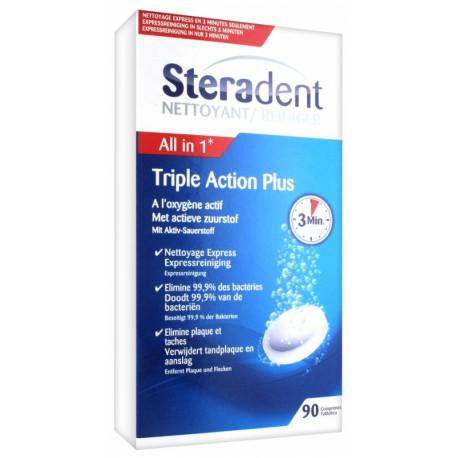 Steradent triple action plus 90 comprimés