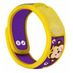 Parakito Kids Bracelet Anti-Moustiques Singe Jaune