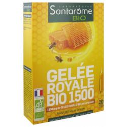 Santarome Bio Gelée Royale Bio 1500 20 Ampoules