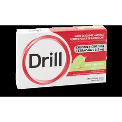 Drill Anis Menthe sans sucre 24 pastilles à sucer